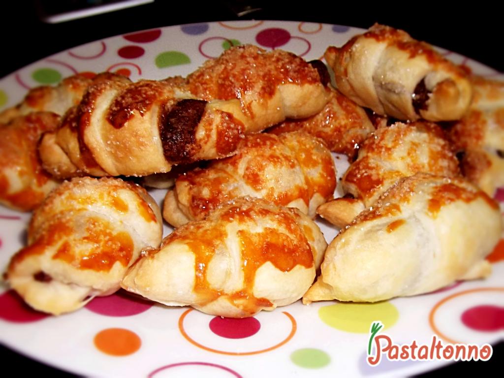 Mini croissant alla Nutella