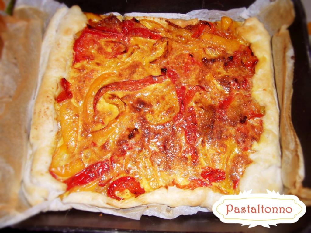Torta salata ai peperoni