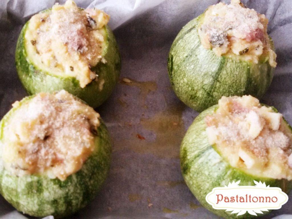 preparazione zucchine tonde ripiene